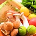 お野菜も国産・九州産にこだわっており、契約農家から直接仕入れる『九州野菜』を使用しております。