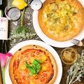 料理メニュー写真4種チーズのグリルハニーピザ