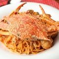 料理メニュー写真渡り蟹のトマトクリームソース 生パスタ
