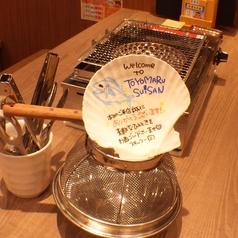 テーブルにはスタッフから真心のこもったメッセージ入りのホタテ貝が…★ホッと和む瞬間です♪