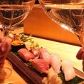 デートにお寿司で乾杯・・・・夫婦でのご来店もお待ちしております。