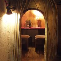 デートにぴったりな人気の個室席