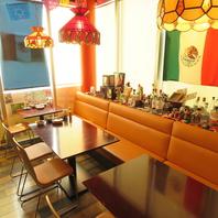 エスニックな雰囲気の陽気な空間メキシコグッズが随所に