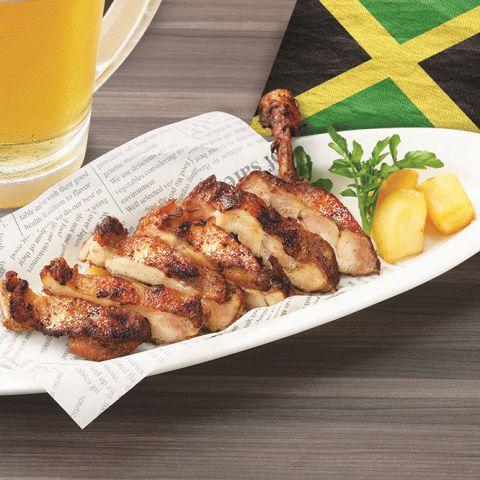 ジャマイカ料理!骨付きジャークチキン