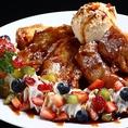 締めのデザートの種類も豊富♪人気NO1はハーゲンダッツのキャラメルフレンチトースト!!