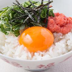 料理メニュー写真じゃことろろごはん/明太子玉子ごはん/お茶漬け(鮭、梅、明太子、たこわさ)