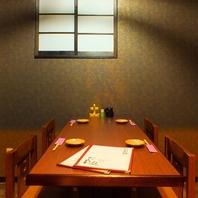 3Fのテーブル完全個室。接待や少人数でのお食事に。