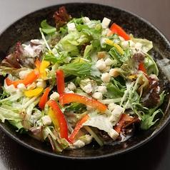 彩野菜と揚げごぼうのカリカリシーザーサラダ