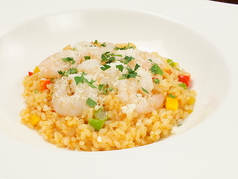 料理メニュー写真海老と季節野菜のトマトリゾット