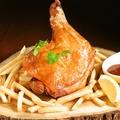 料理メニュー写真つくば鶏の骨付きガイヤーン