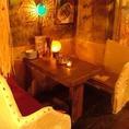 個室風の落ち着くテーブル席☆