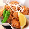 料理メニュー写真自家製ダレ漬 若鶏の唐揚