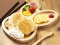 料理メニュー写真キッズプレート カレーorホットサンドorパンケーキ ドリンク付き