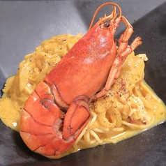 料理メニュー写真オマール海老のクリームパスタ