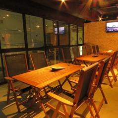 BBQができちゃうテラス風のお席は、個室としてもご利用可能!