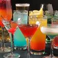 ブロードグロウはお酒の種類が豊富♪本格的なカクテルや、ビール、ウィスキーなど種類豊富に取り揃えております。その日しかないお酒もございますのでお気軽にお尋ねください♪