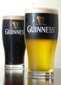 料理メニュー写真パブの定番ギネスビール!!アイルランド原産のこの黒ビールは世界中で愛飲されてます。