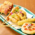 料理メニュー写真魚舟 名物の串天ぷら