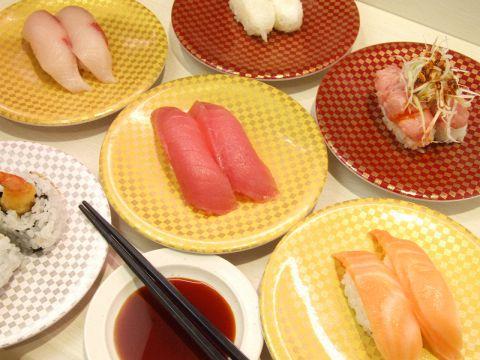 お寿司全皿105円均一!!タッチパネルで簡単注文♪作りたてを高速レーンにてお届け♪