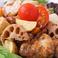 料理メニュー写真鶏と秋の根野菜マスタード和え