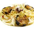 料理メニュー写真なすとオニオンのペペロンチーノ