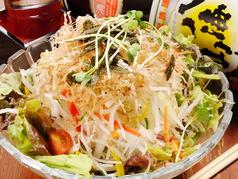 料理メニュー写真季節のサラダ 【10月~5月】大根サラダ/【6月~9月】ゴーヤとタコの梅肉サラダ