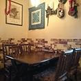 雰囲気抜群 ゆったりテーブル&椅子席...お隣のテーブルとの間隔も、しっかり取ってます!