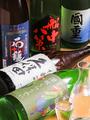 料理メニュー写真日本酒各種