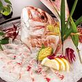 料理メニュー写真鯛を釣る!食べる!(活き造り/塩焼き/煮付け/バター焼き/フライ/唐揚げ)