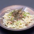 料理メニュー写真ツナとベーコンのしょうゆマヨネーズパスタ風うどん