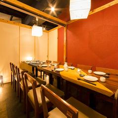 【6~8名様用テーブル席】長テーブルの個室席は会社宴会や合コンにも◎