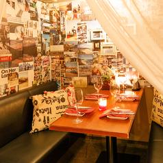 仕事終わりのちょっとした飲み会やデートに最適の半個室です。2名様~ご利用頂けます。