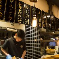 カウンター越しに寿司を握る職人の技が目に入る楽しさ◎