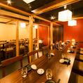 【20~30名様用テーブル席】仕切りを外せば大人数様向けの完全個室に早変わり。最大30名様まで◎