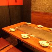 6名様用の大きな鉄板のお席 女子会に人気