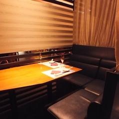 半個室のソファーシート