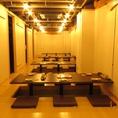 最大40名様まで◎柱のないワンフロアの半個室だから大勢宴会や同窓会にも最適です