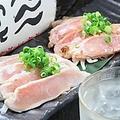料理メニュー写真鶏たたき盛り合わせ(もも・むね)