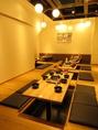 大人数まで貸切OKのお座敷完全個室、複数ご準備致しております。