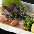 【コースメニューの一例】博多といえば「ごまさば」九州だからこそ味わえるごまさばは、他県からのお客様にはもちろん、地元福岡の方にも人気の逸品です。