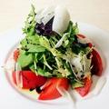 料理メニュー写真トマトと有機ベビーリーフのサラダ