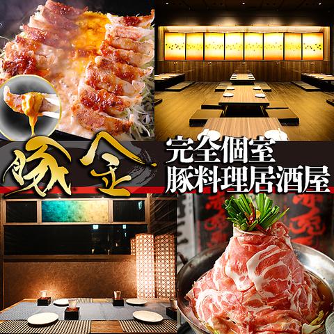 【完全個室有】豊富な豚鍋&お得な飲み放題付コースメニュー2980円~シーンに合わせて