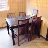 1階の4名様のテーブル席です。同タイプが他に4テーブルございます。