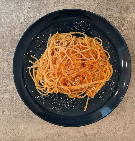 …pasta set 蟹のトマトクリームパスタ…