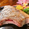 料理メニュー写真キビまる豚Lボーンステーキ 450g Kibimaru pork steak