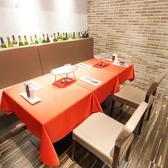 個室は4名様1テーブルごとで2席分ご利用いただけます。個室ご希望の場合はお電話でのご予約が確実です。
