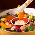 料理メニュー写真鶏肉と温野菜のバーニャカウダ