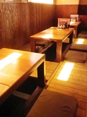 足をのばして楽にくつろげます。掘りごたつ席は、4名席×3卓、2名×1卓あり、最大~16名様までのご宴会に対応できます!
