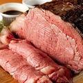 料理メニュー写真牛ローストビーフ