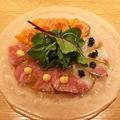 料理メニュー写真鮮魚3種のカルパッチョ 3つのアクセントで